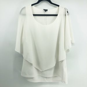 Torrid White Cold Shoulder Blouse